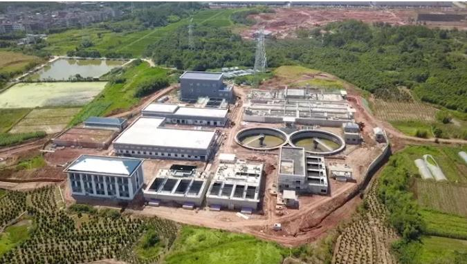 义乌市首座工业污水厂——武德净水厂通水试运行